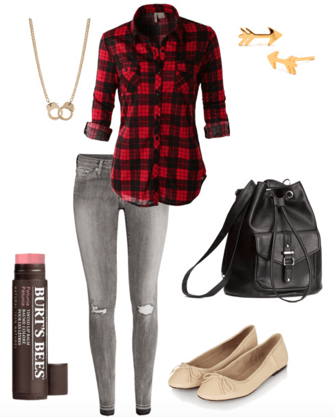 Gray jeans class outfit