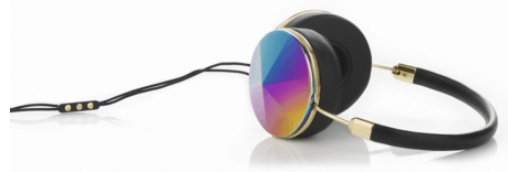 gold rainbow headphones from frends
