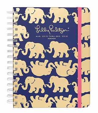 printed planner from lilly pulitzer