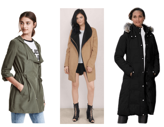 A series of spacious jackets