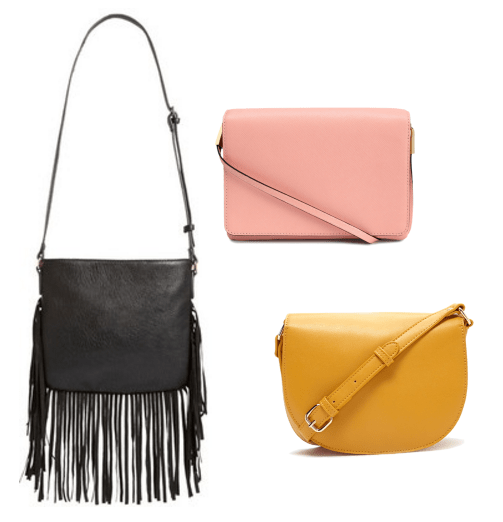 Cross body bag examples