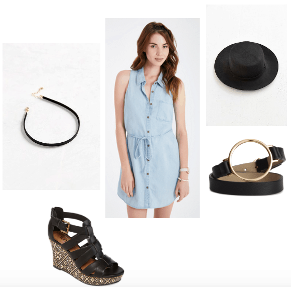 Chambray dress summer look
