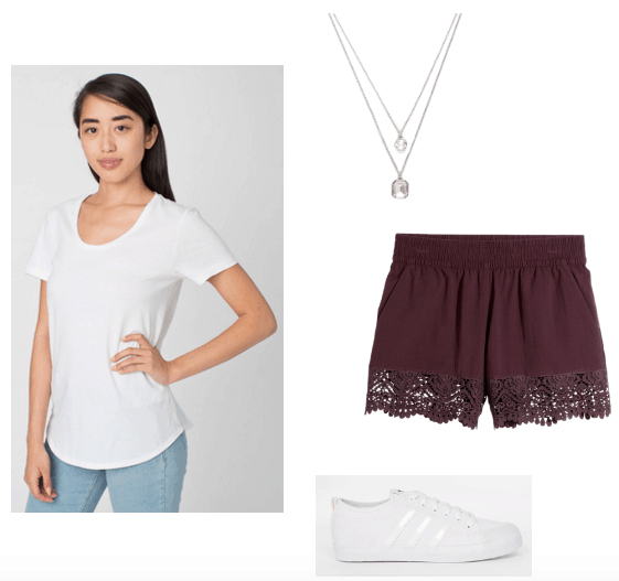 White and Plum summer look