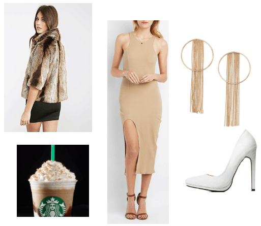 S'mores frappaccino outfit inspiration
