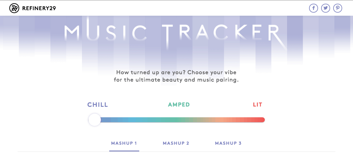 Refinery29 Music Tracker