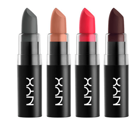 NYX Matte Lipstick colors
