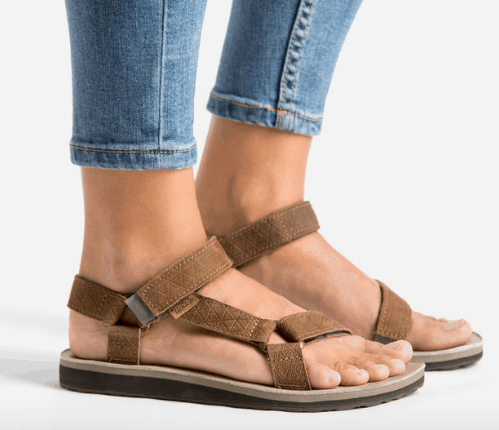 Classic Brown Leather Tevas