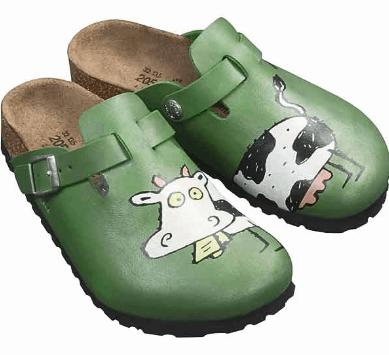 Cow Birkenstocks