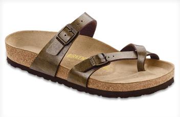 Mayari Golden Brown Criss-Cross Birkenstock