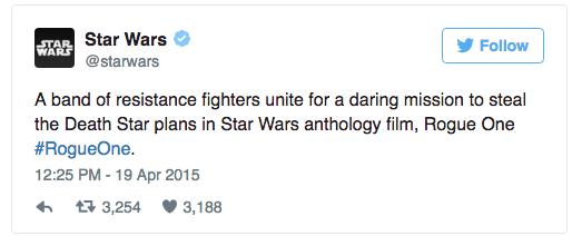 Star Wars tweet