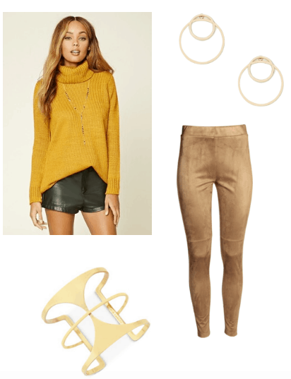 Gold hued venis outfit