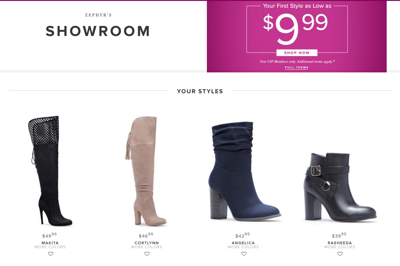 My Shoedazzle showroom