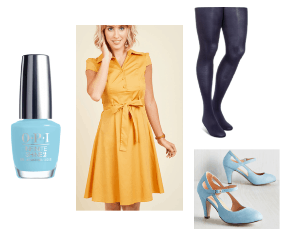 Light Blue OPI outfit