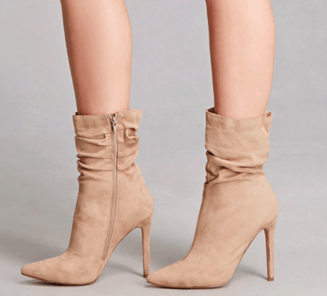 Forever 21 suede heeled booties