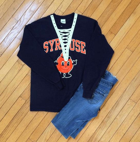 Syracuse University lace up top