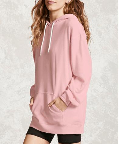 Pink oversized hoodie - so cozy!