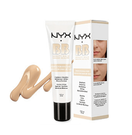 NYX bb cream tube and box