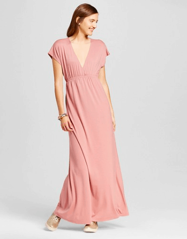 Pink v neck maxi dress from Target