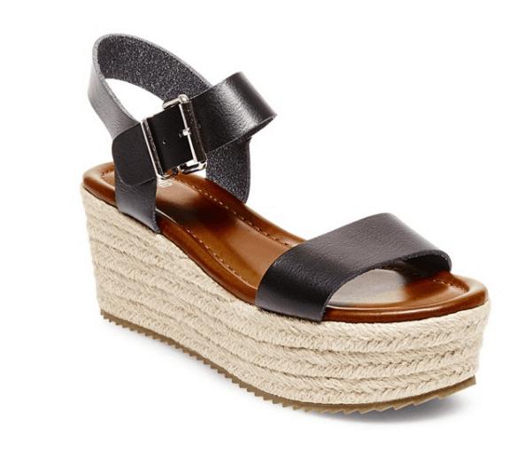 Target black flatform espadrille sandals