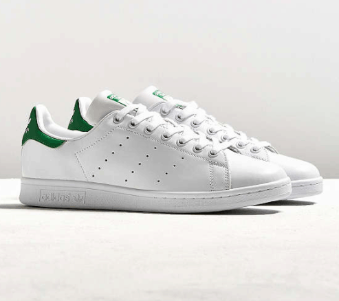 Adidas Stan Smiths in white and green - best shoes for study abroad