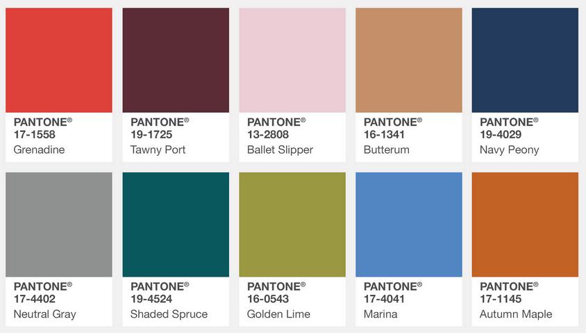 Fall fashion colors 2017, according to Pantone