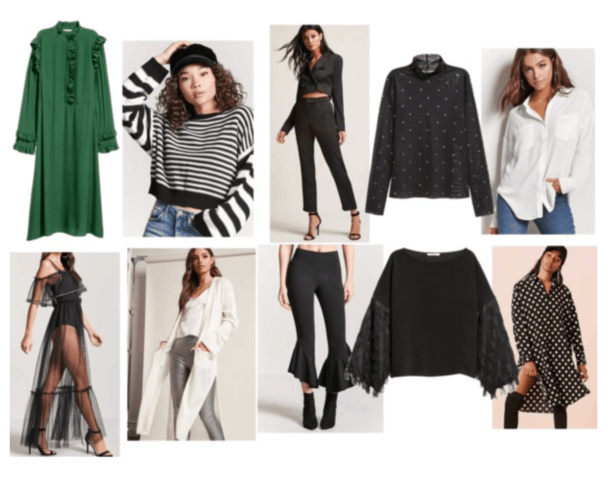 Janelle Monae style: Capsule Wardrobe inspired by Janelle's black and white monochrome look