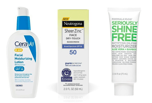 Three lotions - one moisturizer, one sunscreen, one combined