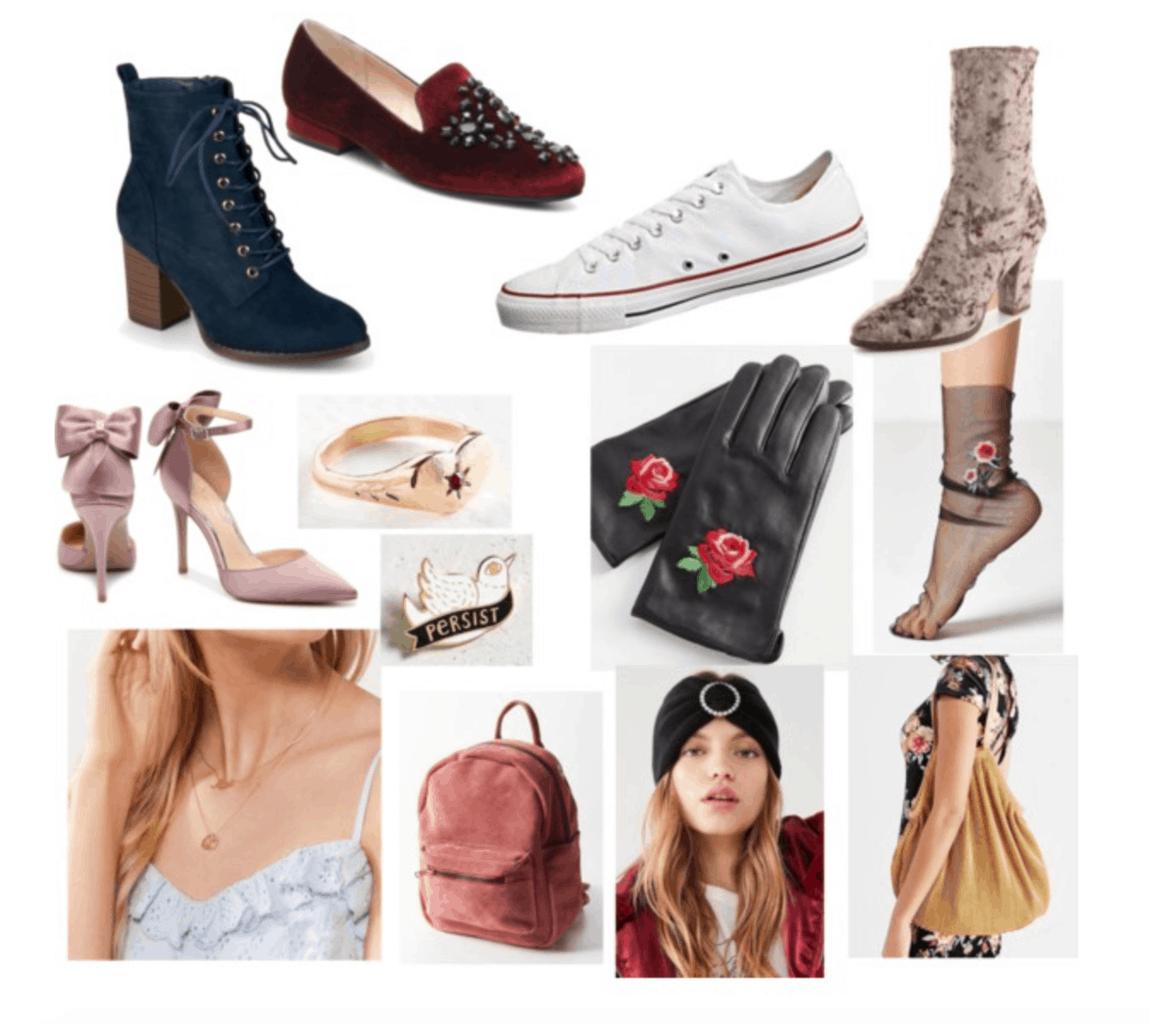 Petra Collins style: Accessory/Shoe capsule inspired by Petra Collins shoes and accessories