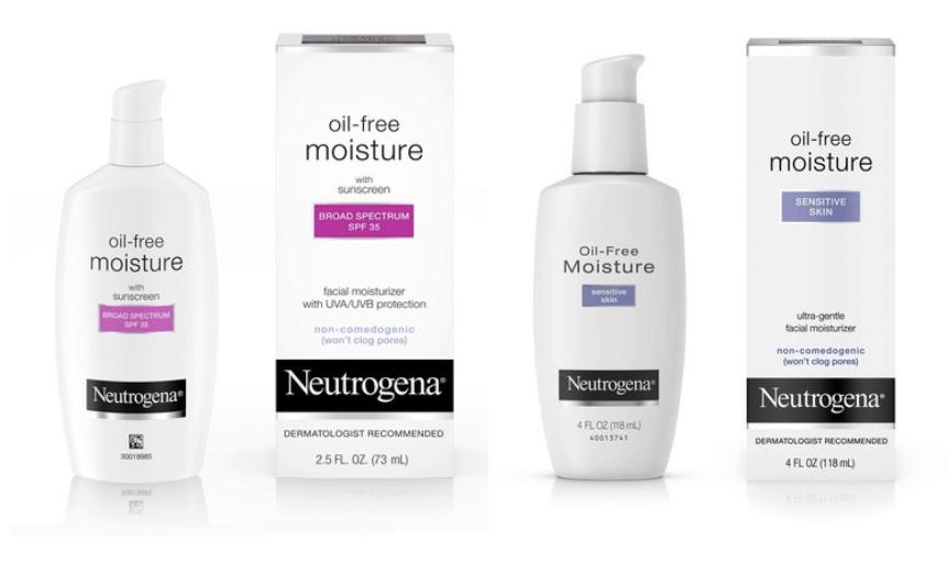 neutrogena, oil-free moisture, sensitive, skin, spf