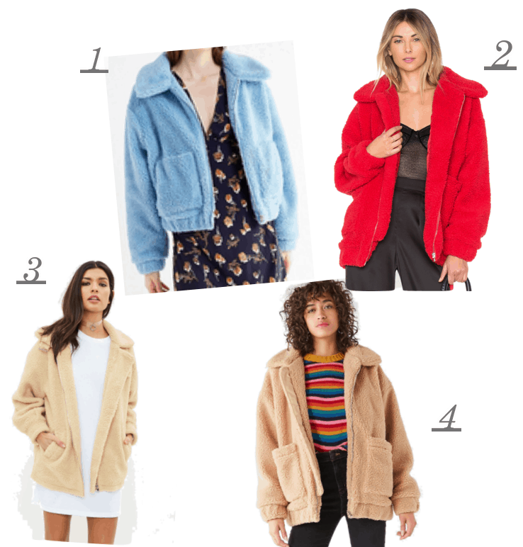 Teddy coats are one of this seasons biggest trends that you have probably seen on all your fave celebs from Bella Hadid to Kaia Gerber. MissGuided, I.Am.Gia, Revolve, Urban Outfitters