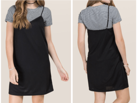 Layered tee shirt dress from Francescas