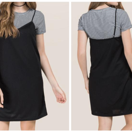 Layered tee shirt dress from Francescas