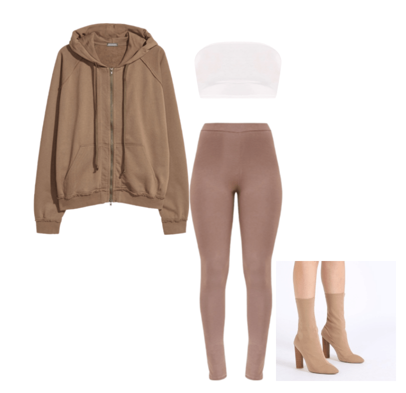 Outfits inspired by Yeezy Season 6. Kim Kardashian inspired looks. Neutral, MissGuided, Pretty Little Thing, H&M