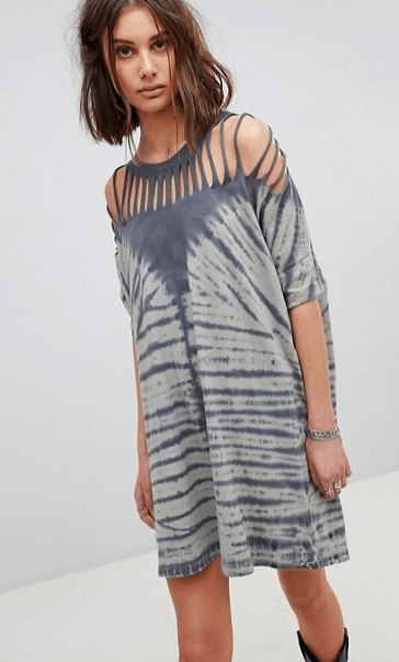 Blue and gray tie dye dress from ASOS