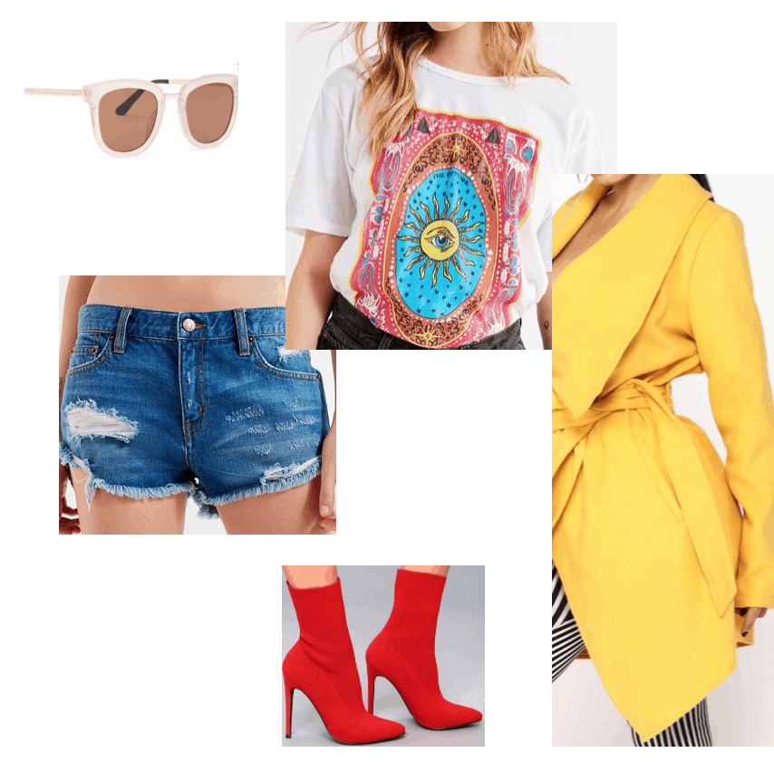 Outfit inspired by beyonce instagram, yellow jacket