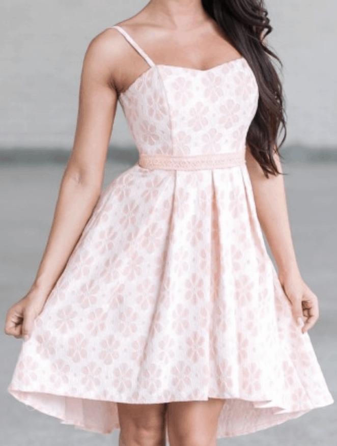 Pink summer dress.