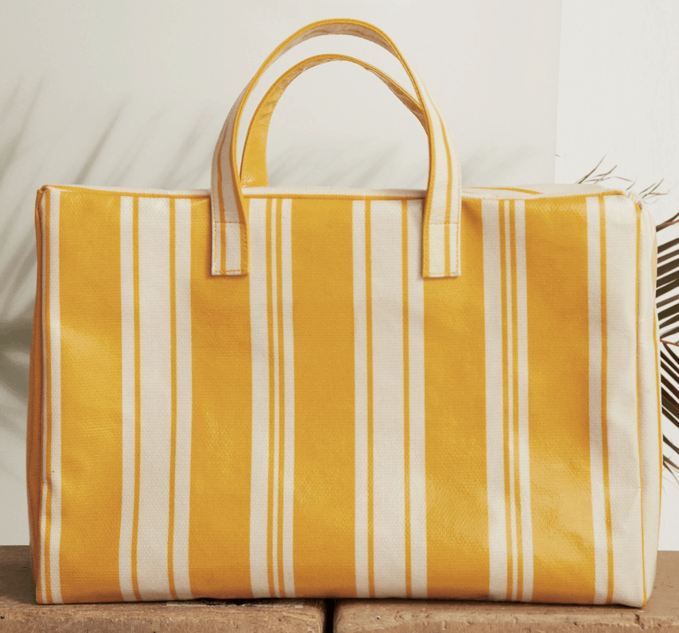 Yellow stripped bag.