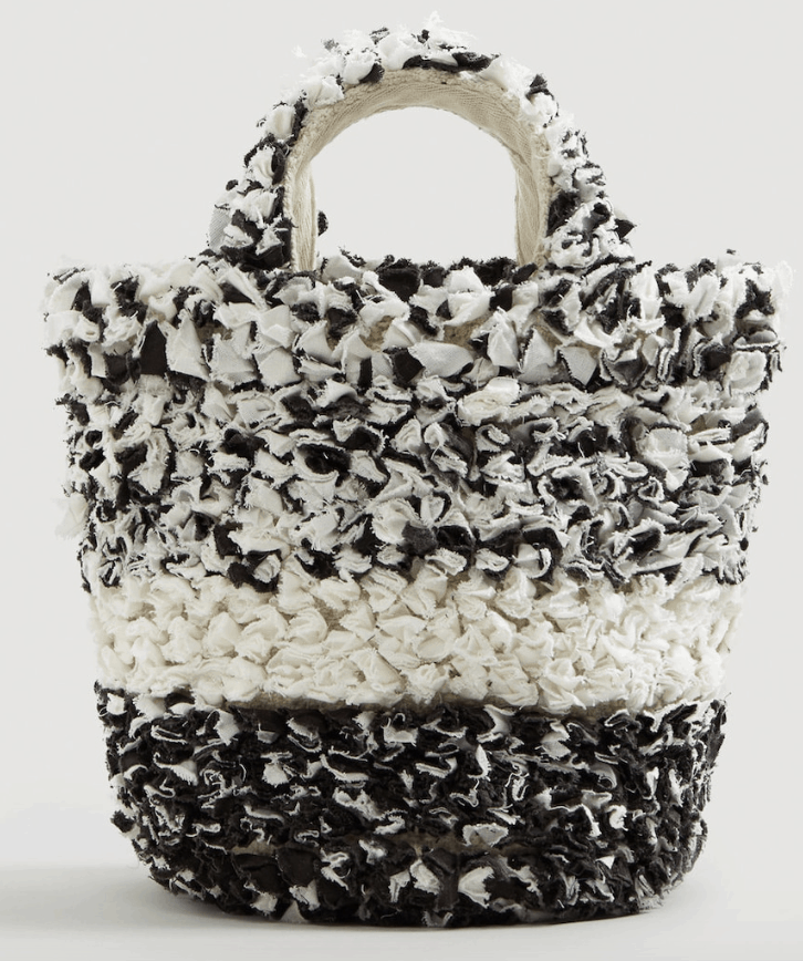 Black and white textured bag.