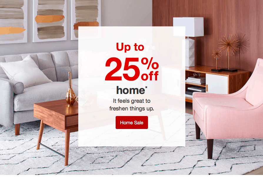 Screenshot target website sale