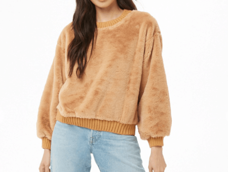 Forever 21 faux fur pullover sweater
