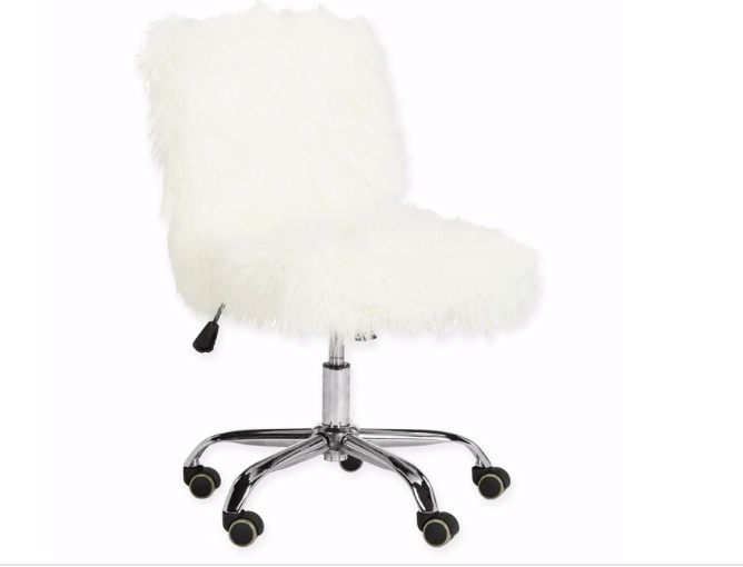 Faux fur chair from Overstock