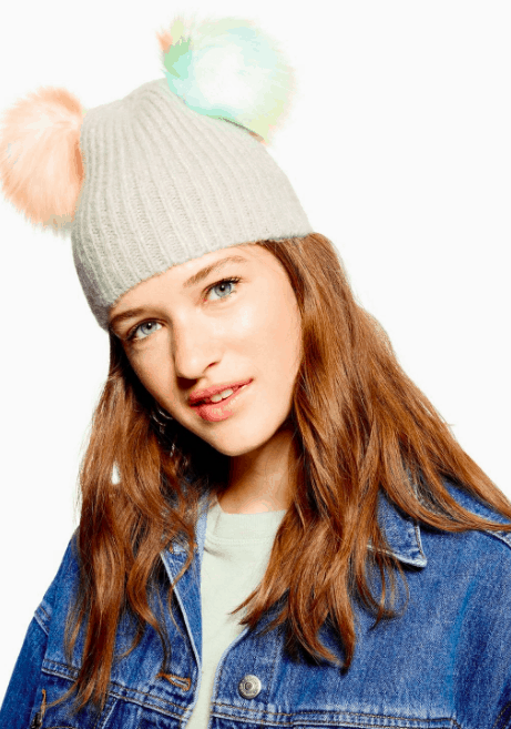 97+ 2018 New Winter Hats Ladies Thick Patterned Rabbit Hair Knitted ... 8f946e32ebf4
