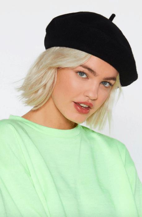 Nasty Gal black beret