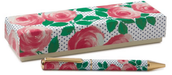 Internship essentials: Items every intern should have. Pretty pen with rose and polka dot print
