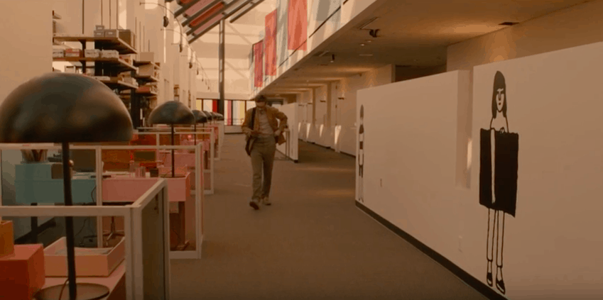 Film production design fashion: Theodore's workplace in