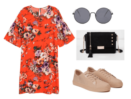 outfit inspired by tin tin 2- satchel, glasses, dress, leather shoes