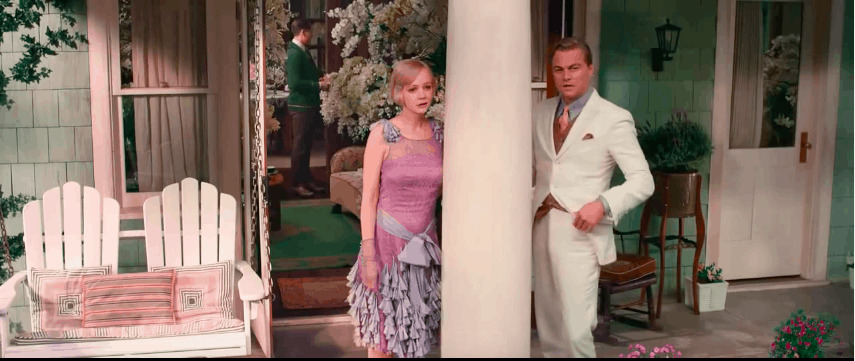 gatsby's tea party in The Great Gatsby 2013 film