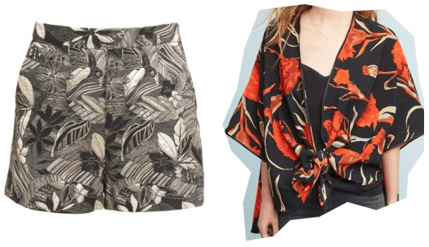 What your favorite pair of shorts says about you: Palm print shorts and printed kimono
