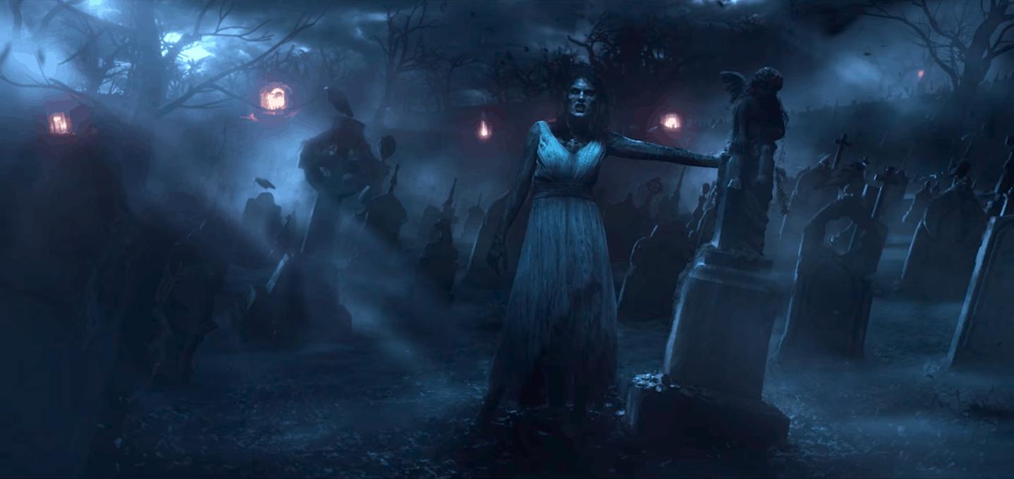 Graveyard scene from Taylor Swift's LWYMMD