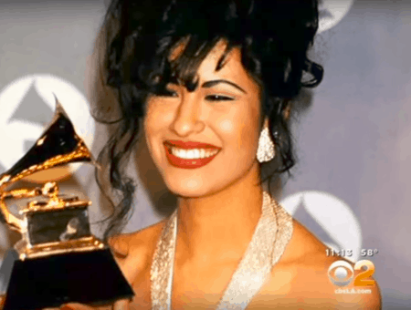Selena Quintanilla at the Grammys
